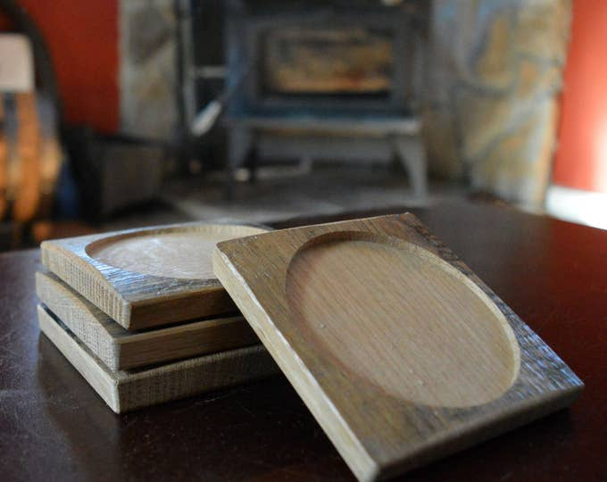Whiskey Barrel Coasters (Set Of Four)