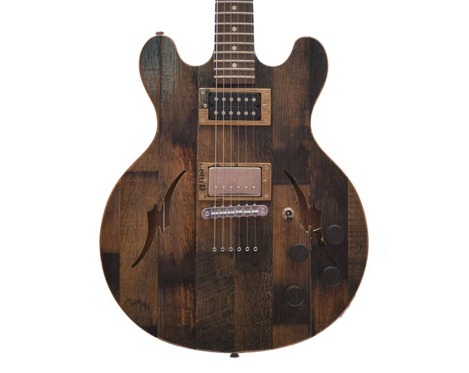 Whiskey Barrel Electric Guitar