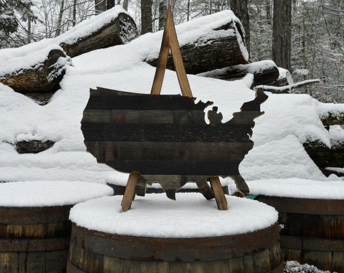 United States of Whiskey Barrel Cut Out