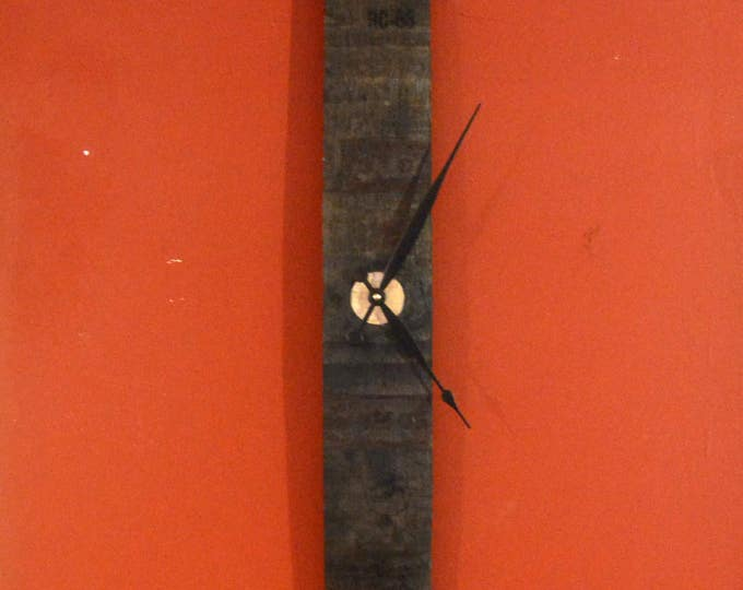 Whiskey Barrel Bung Stave Clock