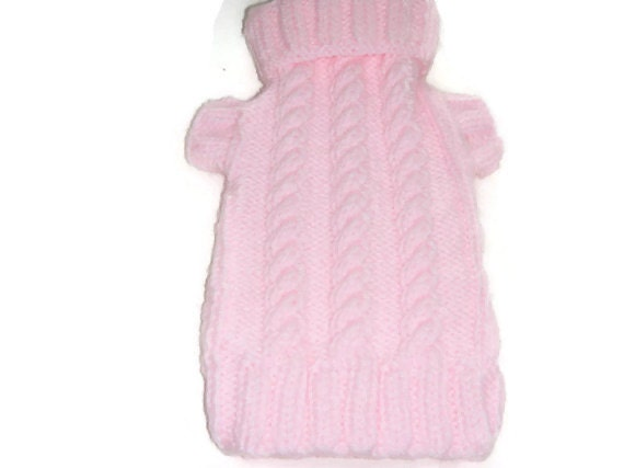 a624c89c0c57 Dog sweater Chunky Knit in Baby Pink Small dog Autumn or