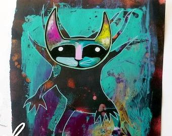 Axolotl Catolotl,Funny cat decor