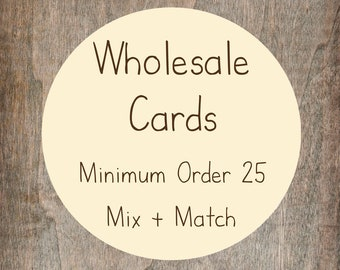 Großhandel Grußkarten Karten - Mix & Match - Mindestabnahme 25