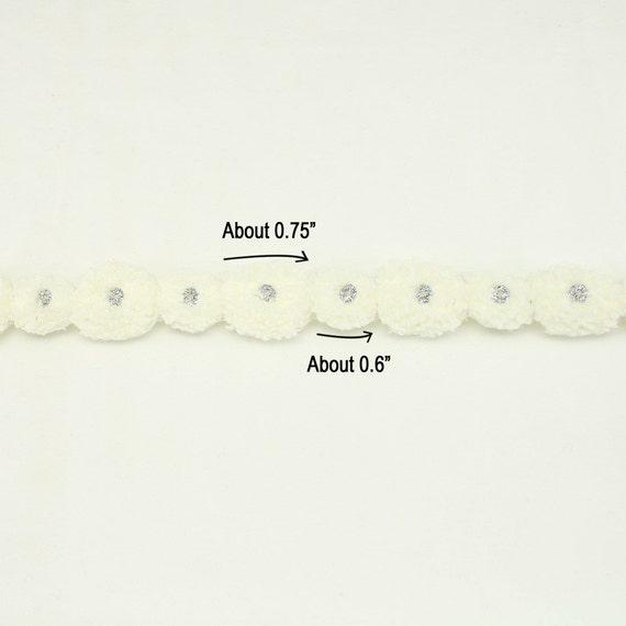 Acrylic Round Balls Trim Wool Trim for baby girls Hair Accessories Headband #252