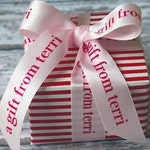 Personalized Ribbon, Printed Ribbon, Professionally Printed Favor Ribbon, Custom Wedding Ribbon, Gift Ribbon, Custom Ribbon, Satin Ribbon