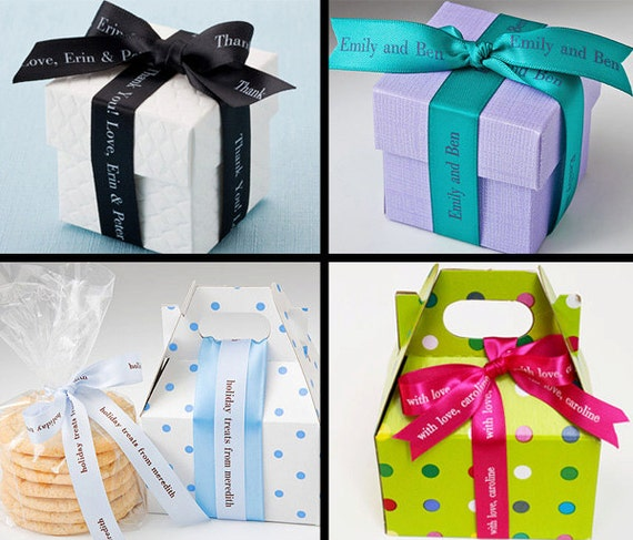 Imprinted Ribbons Personalized Satin Ribbon Professionally Etsy