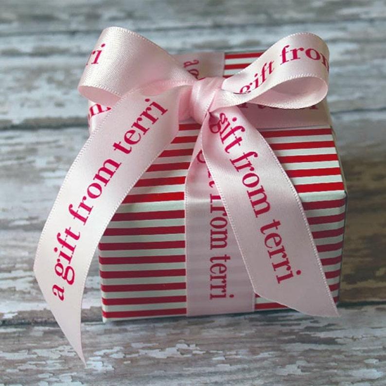 Personalized Ribbon Printed Ribbon Professionally Printed image 0