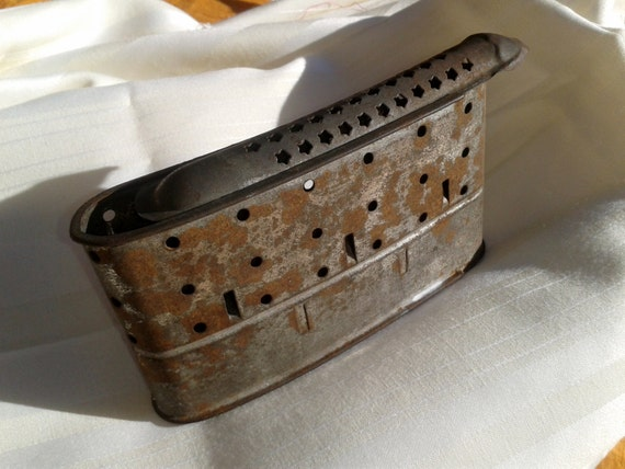 Victorian Collectible Pocket Warmer Antique 1800's French Coal Hand Warmer Tin Made Free Shipping #sophieladydeparis