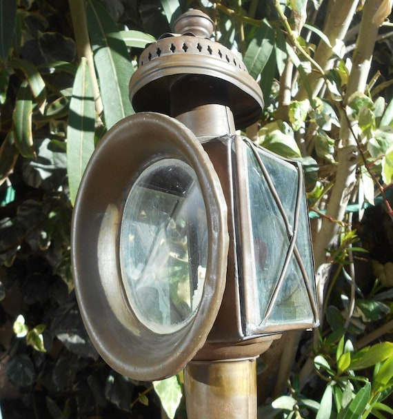 Boat Lantern Victorian Torch 1900's French Copper Ship Torch Vintage Nautical Industrial Decor #sophieladydeparis