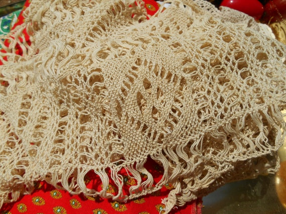Victorian Lace Band Art Knotted French Lace Braid Cotton Geometrical Design Sewing Project Home Decor Curtains #sophieladydeparis