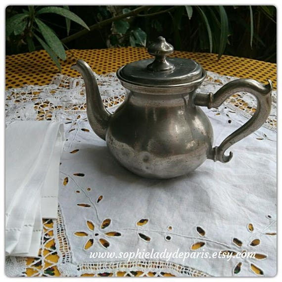 Victorian Teapot 1880's French Silver Plated Home Decor Collectible Kitchen Decor #sophieladydeparis