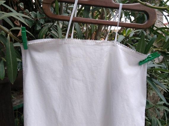 White Slip French 1900's Cotton Slip Dress Handmade Medium Large #sophieladydeparis