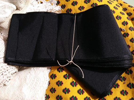 Large Ribbon Antique Black Ribbed Ribbon French Millinery Trim Sold by the Yard Unused Sewing Project Collectible #sophieladydeparis