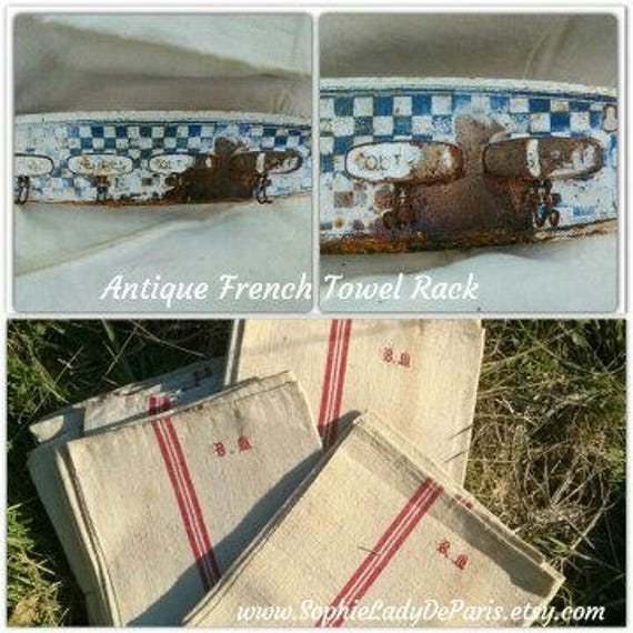 Antique French Kitchen Towel Rack   #sophieladydeparis