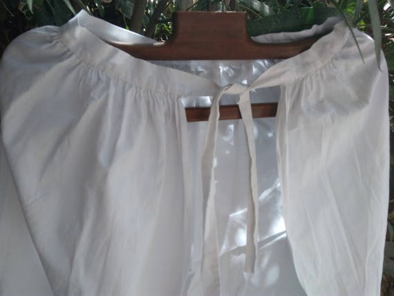 Antique Apron 1900's French Cotton Apron White Cotton handmade Plays Movies Clothing for Costume #sophieladydeparis