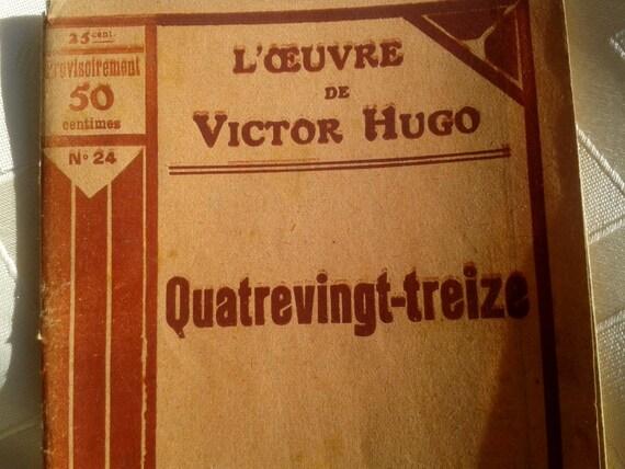1920's Victor Hugo Ninety Three French Novel on the French Revolution Paperback Novel N. 24 by Artheme Fayard Paris #sophieladydeparis
