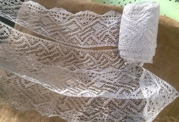 9 + Yards Lace Victorian White Hemp Band Extra Long and Large French Lace Braid Sewing Project Home Decor #sophieladydeparis