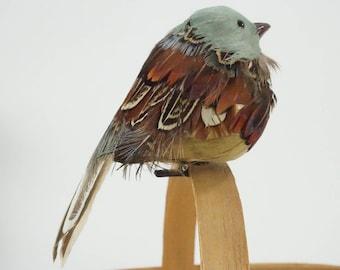 Artificial Bird, Feathered Bird, Clip on, Robin Bird Sage Green & Brown Bird For Wreaths Table Decor Floral Arrangements New Free Ship