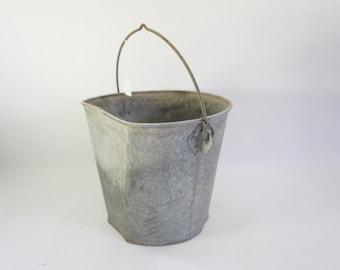 ROUND Metal Bucket w Handle Storage Bucket Atlantic #10 Metal Pail Lot 101 Free Ship Storage Pail Galvanized Bucket Garden Carry All