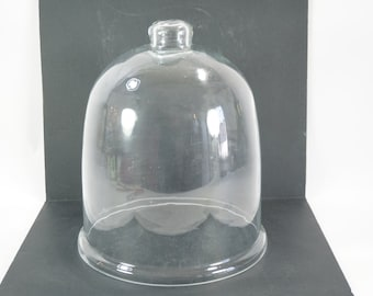 """Glass Cloche, Season Extended, Plant Protector, Tepee, Plant Cover, Glass Dome, Orchid Glass Cover, New,  Never Used, 9 3/4"""" Base Dia"""