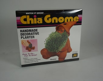 Chia Pet, GNOME Chia, Watch It Grow, Gnome Garden Planter, Decorative Planter, Indoor Plants, New, Free Shipping