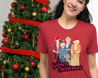 Golden Christmas Short-Sleeve Unisex T-Shirt
