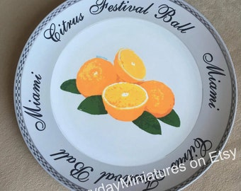 Citrus Festival Plate - Prop Replica (Shipping is included in price)