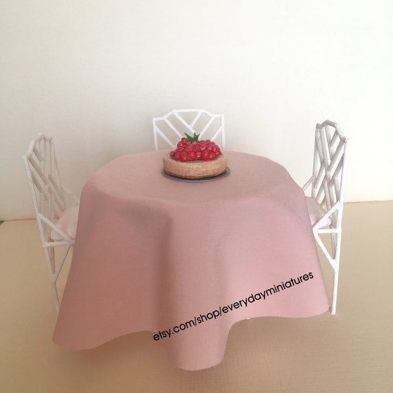 Miniature Table and Chairs for 8 inch dolls