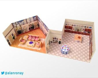 DIY House Papercraft - 6151 Richmond St, Miami, FL