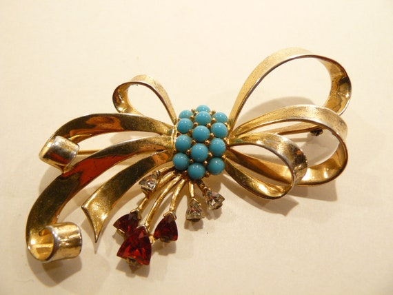 Stunning 1940's Marcel Boucher Sterling Turquoise