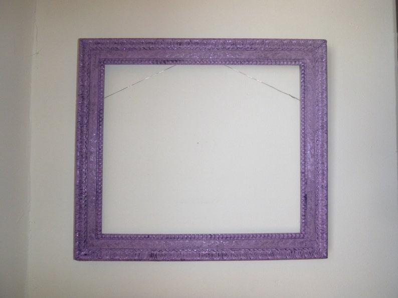 Wood Frame Purple Sparkle