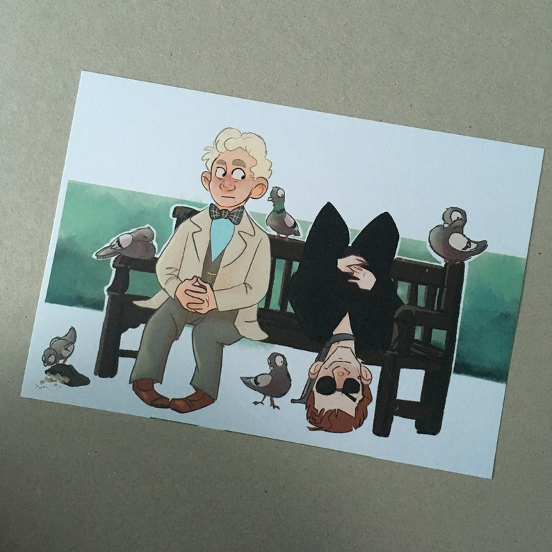 A5 print - The Arrangement - Good Omens, Aziraphale and Crowley