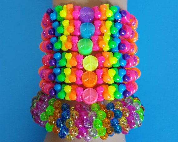 Peace kandi bracelets set,kandi singles,rave bracelets,rave kandi,rave outfit,edc kandi,edc outfit,kandi kid,rainbow bracelets,kandi cuff