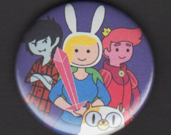Adventure Time 1.75 inch Button - Fionna, Cake, and Friends