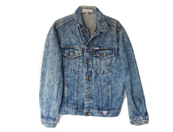 Vintage Denim Size large, l, Denim Coat, Western c