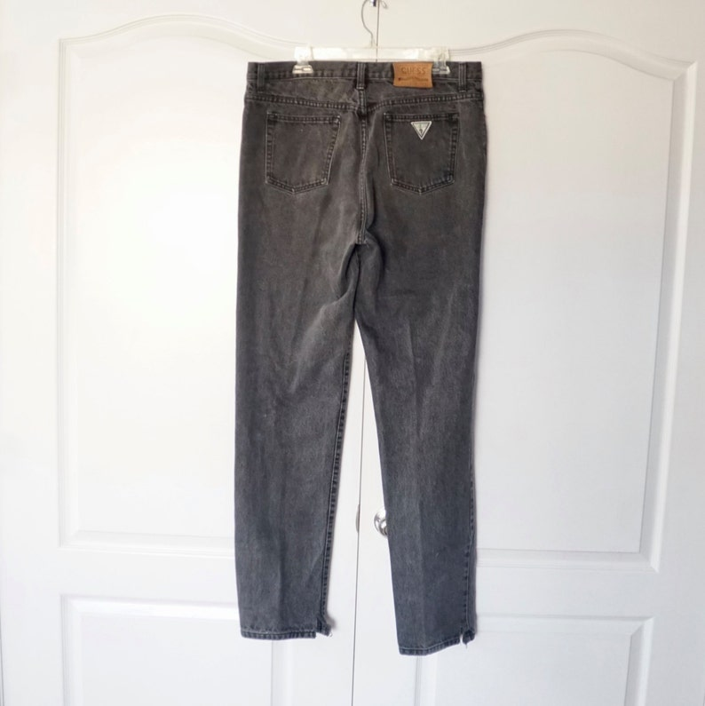 Vintage Original Guess Jeans 80's skinny Jeans Size 38 Long Tall