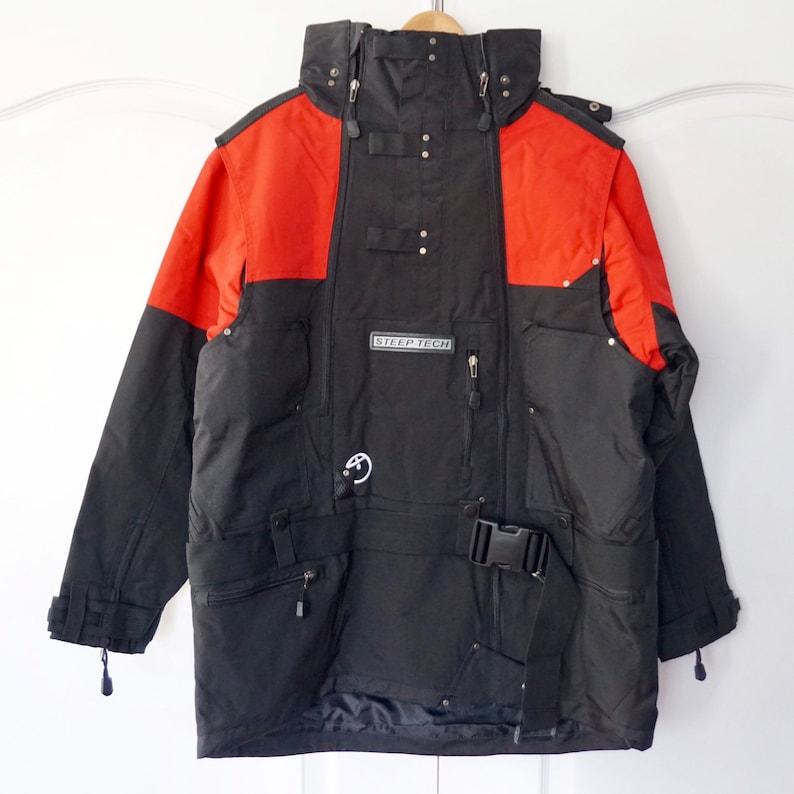 6893702e6 Vintage The North Face Steep Tech Ski Jacket Anorak Windbreaker, Retro 90's  Colorblock Pullover, Half Zip Fashion heavyweight