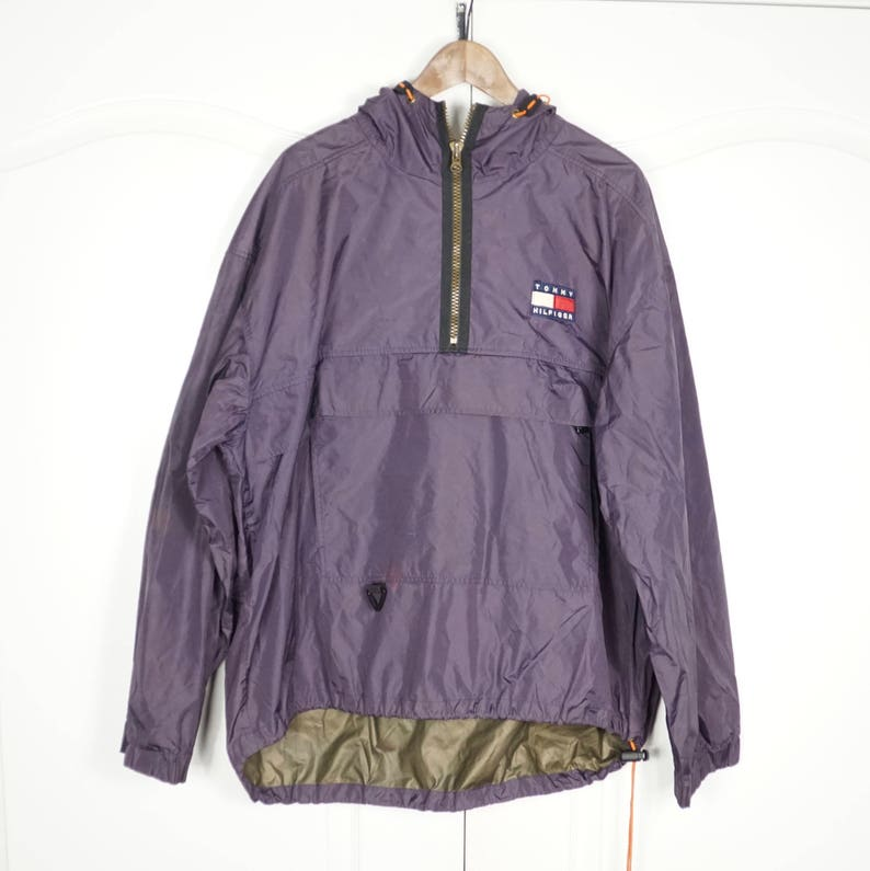 8216b4cc TOMMY HILFIGER 90's Purple Vintage Windbreaker Jacket | Etsy