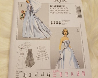 9929f7ce813 NEW Burda Style uncut pattern 7251 size 10-12-14-16-18 Skirt dress Robe  Wedding Dress Gown