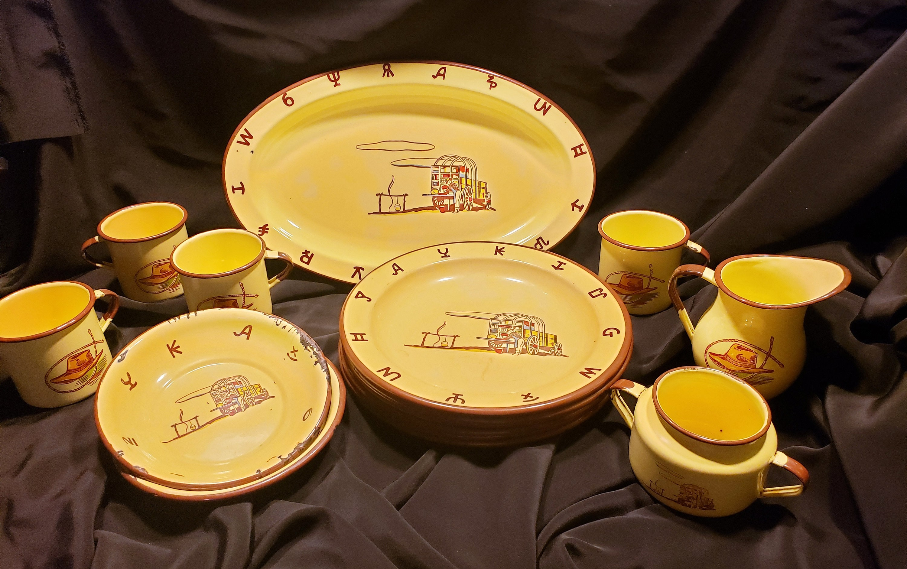 Choice Piece of Vintage Monterrey Western Ware Enamelware From The 1950's