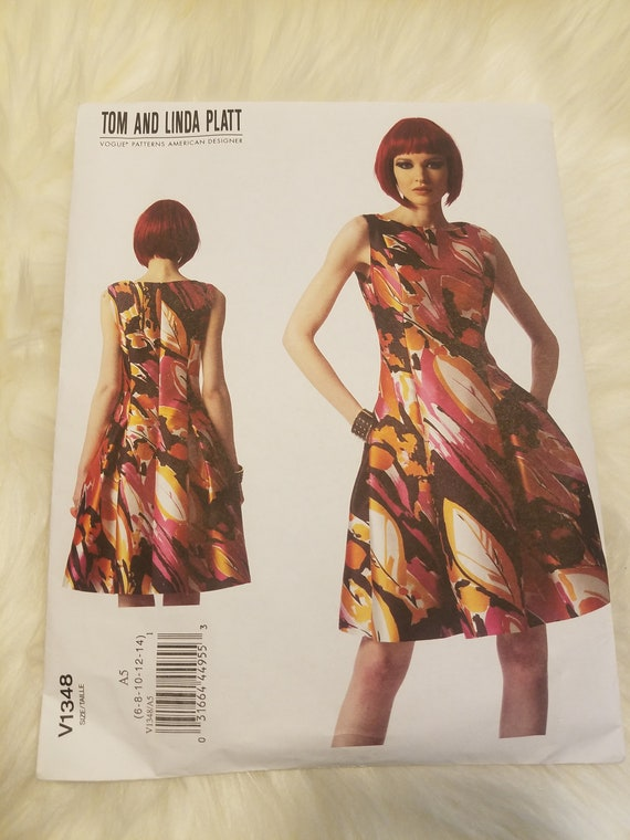New Vogue Tom And Linda Platt Uncut Pattern V1348 Size Etsy