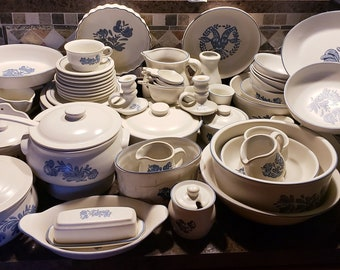 Shopping time! Vintage Pfaltzgraff China set in Yorktowne Pattern From The 1980's, Your Choice - Used - Please Read Description