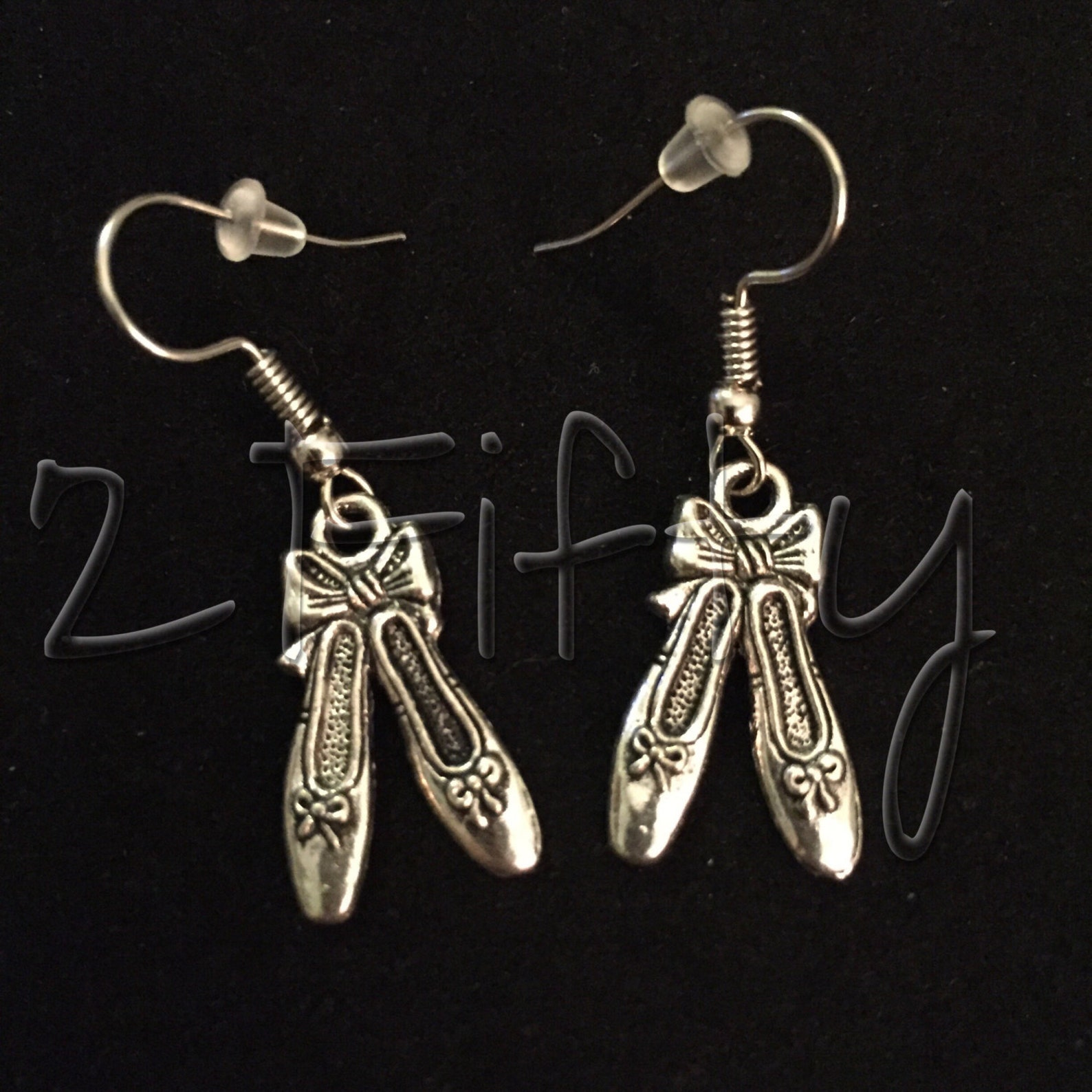 ballet dance shoes nickel free hook earrings