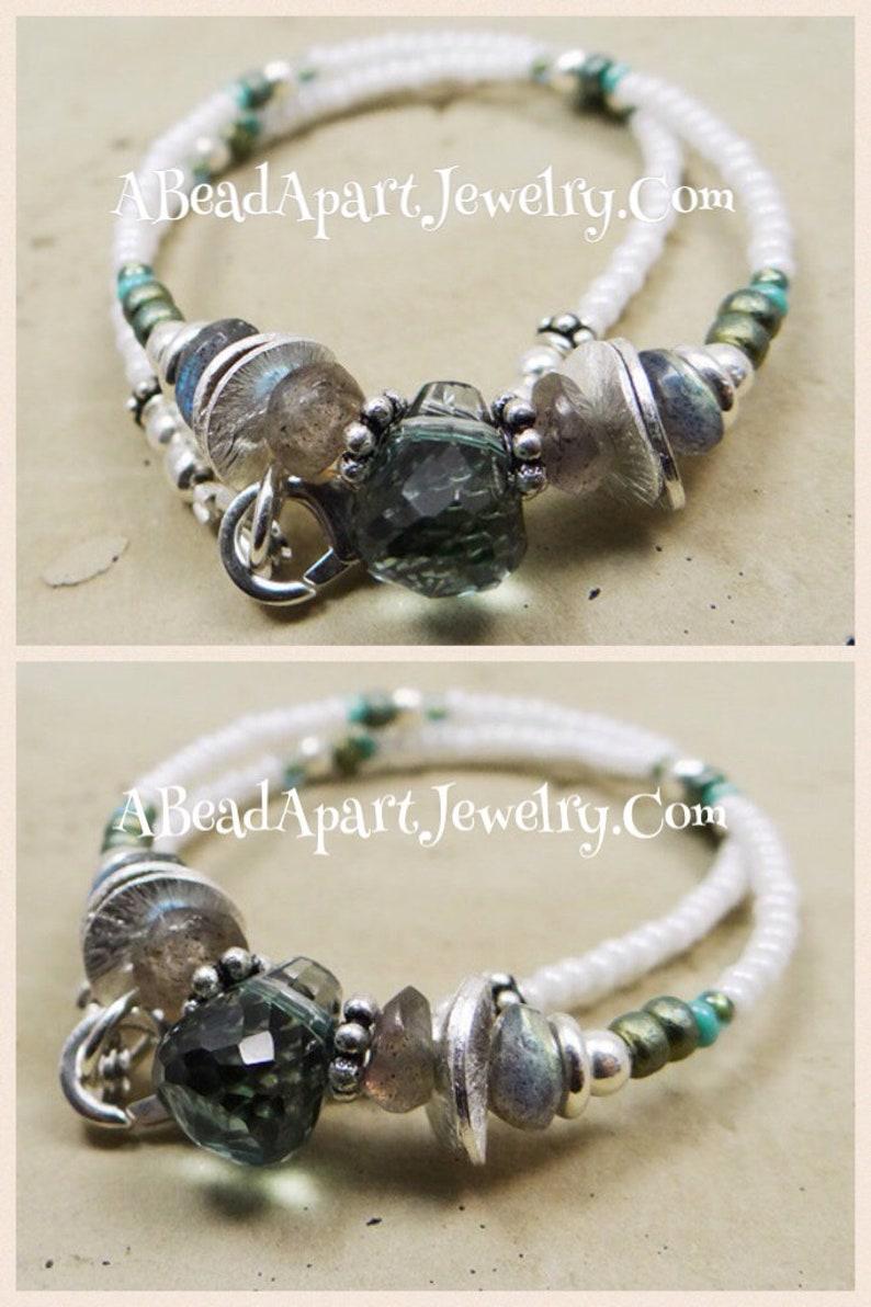 Boho Anklet Gemstone Anklet Labradorite Gemstone Jewelry Ankle Bracelet Beach Anklet Green Amethyst Sterling Anklet Green Anklet