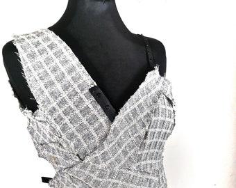Abito Donna Precious Pieces Grigio Lana  - Woman Dress Precious Pieces in Wool Gray