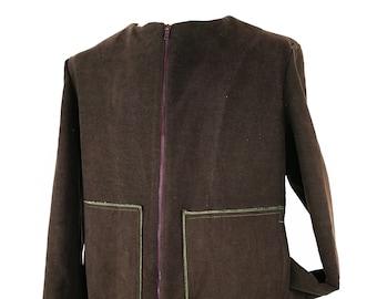 Giaccone  Uomo Corto Block marrone -  Man Short Coat Block brown