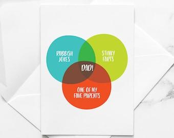 Funny Valentine/'s Venn Diagram card for Procrastinators