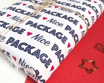 Funny Gift Wrap, Nice Package, Funny Wrapping Paper, Funny gift wrap, rude wrapping paper, Nice Package gift wrap, funny wrap, rude wrap