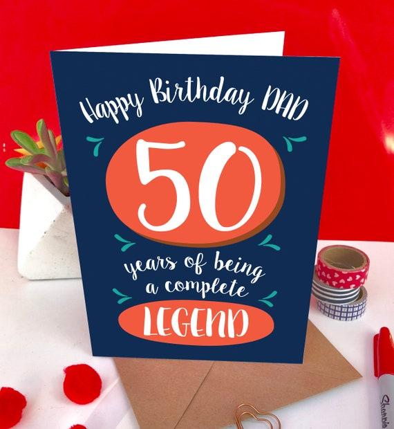 Geburtstagskarte papa 50