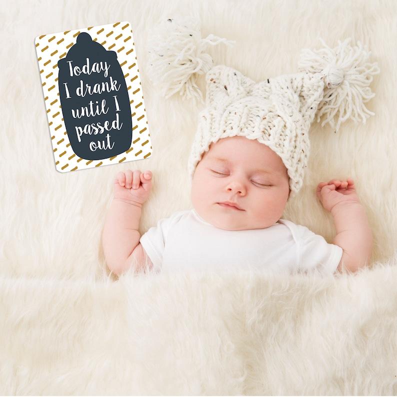 personalised alternative baby milestone cards